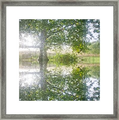After The Storm Through The Window Framed Print by Betsy Knapp