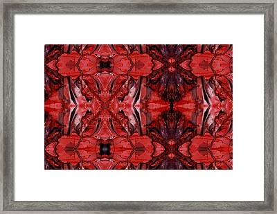 Afterglow Pattern Framed Print by Dan Cope