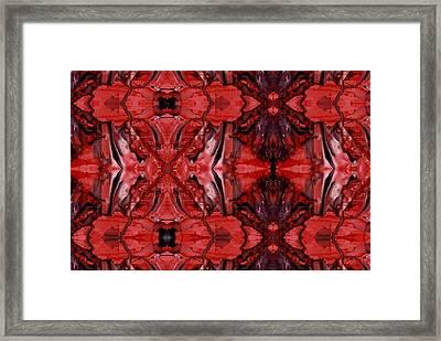 Afterglow Pattern Framed Print by Dan Cope