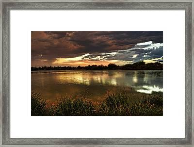 Afterglow Framed Print by Saija  Lehtonen