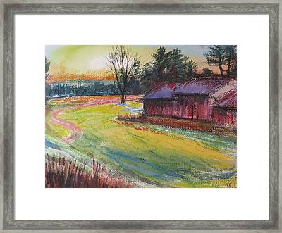 Afternoon Barns Framed Print by Sid Solomon