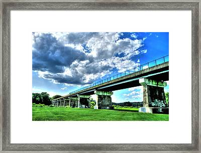 Afternoon By The Bridge 1 Framed Print by Heather  Boyd