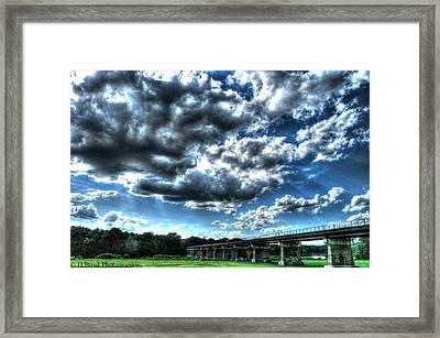 Afternoon By The Bridge 2 Framed Print by Heather  Boyd