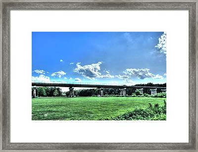 Afternoon By The Bridge 3 Framed Print by Heather  Boyd
