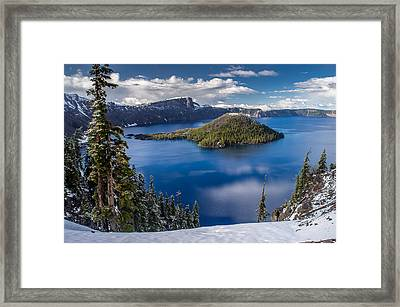 Afternoon Clearing At Crater Lake Framed Print by Greg Nyquist