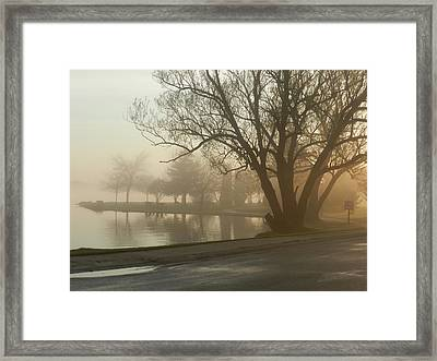 Afternoon Fog Framed Print by Dennis Leatherman