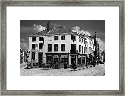 Afternoon In Brugge Framed Print by Cecil Fuselier