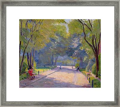 Afternoon In The Park Framed Print by Hippolyte Petitjean