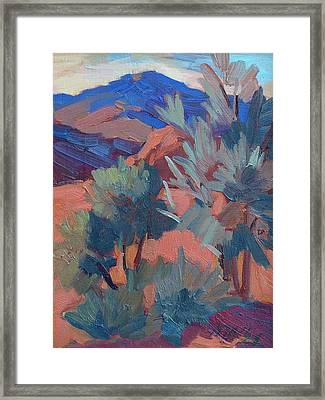 Afternoon Light - Santa Rosa Mountains Framed Print by Diane McClary