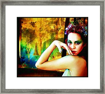 Framed Print featuring the digital art Afternoon Of A Wood Nymph by Mary Morawska