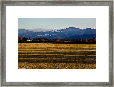 Framed Print featuring the photograph Afternoon Shadows Across A Rogue Valley Farm by Mick Anderson