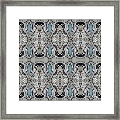 Agate-38e Border Tiled Framed Print by Sue Duda