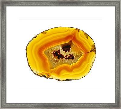Agate Slice Framed Print by Mark Sykes