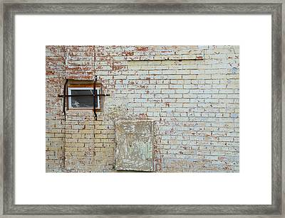 Aged Brick Wall With Character Framed Print
