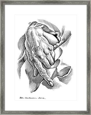 Aged Hand, Artwork Framed Print by Bill Sanderson