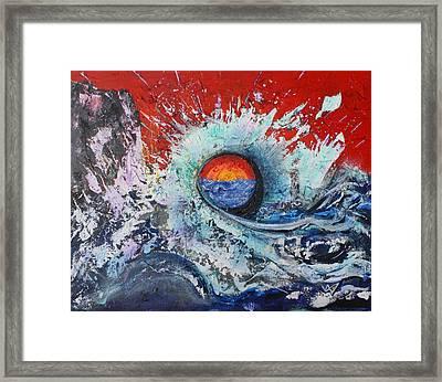 Age's Sun Framed Print by Valerie Wolf