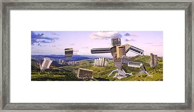 Aggressive Anthropization / AntropizaÇÃo Agressiva Framed Print by Arthurperruci