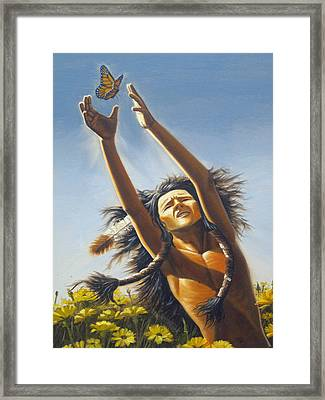 Agility Of The Butterfly Framed Print by Rick Mittelstedt