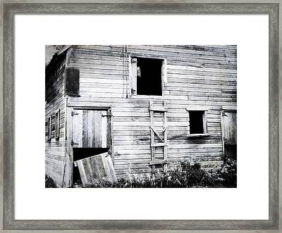 Aging Barn  Framed Print by Julie Hamilton