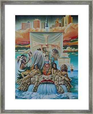 Agony Of A Nation Framed Print by Santo De Vita