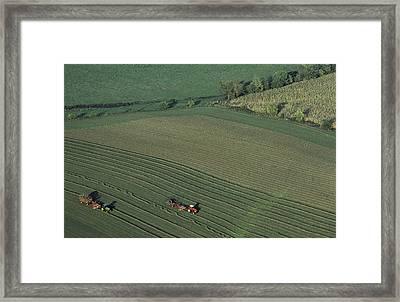 Agricultural Aerial View Framed Print by Kenneth Garrett