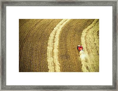 Agricultural Harvesting Maize Framed Print by Marcos Alves