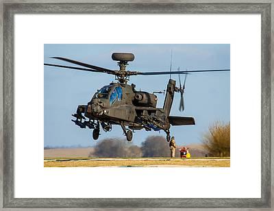 Ah64 Apache Framed Print by Ken Brannen