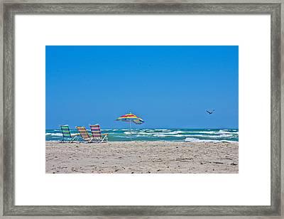 Ahhh Vacation Framed Print