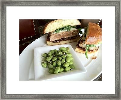 Ahi Tuna Sandwich At Pebble Beach Framed Print by GuitarGeeks Photography