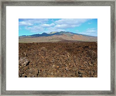 Ahihi-kinau Natural Area Reserve - Lava Flow - Maui Framed Print by Karon Melillo DeVega