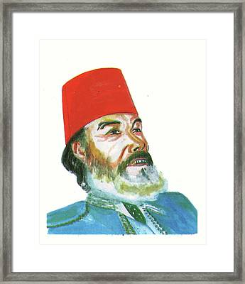 Ahmed Messali Hadj Framed Print by Emmanuel Baliyanga