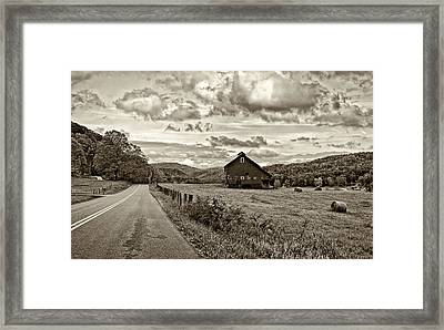 Ah...west Virginia Sepia Framed Print by Steve Harrington
