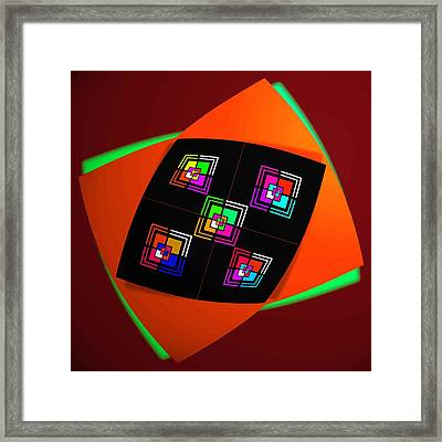 Ai Bow Tie Framed Print by Charles Stuart