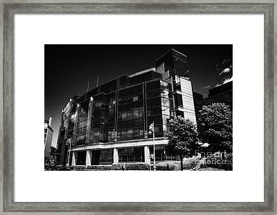 Aib Allied Irish Bank International Centre Headquarters Of Aib Capital Markets In The Ifsc Dublin Framed Print