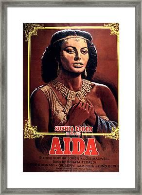 Aida, Sophia Loren, 1953 Framed Print by Everett