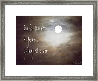 Aim For The Moon Framed Print by Yvon van der Wijk