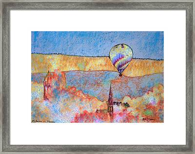 Air Balloon Over Peeebles Framed Print by Richard James Digance