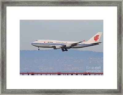 Air China Airlines Jet Airplane At San Francisco International Airport Sfo . 7d12272 Framed Print