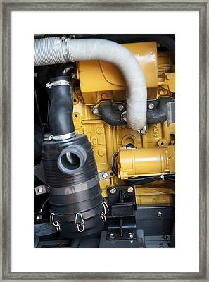 Air Compressor Framed Print by Photostock-israel