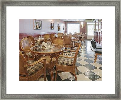 Air Conditioned Cafe Framed Print