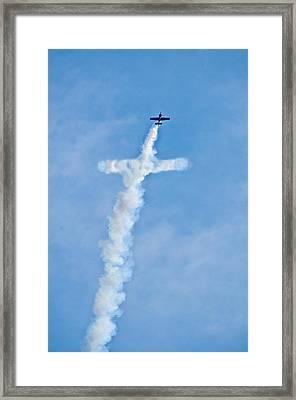 Air Cross Framed Print