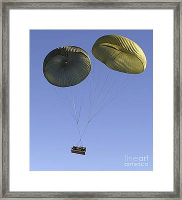 Air Delivery Platoon Drops Heavy Framed Print by Stocktrek Images