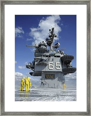 Air Department Sailors Test Framed Print by Stocktrek Images