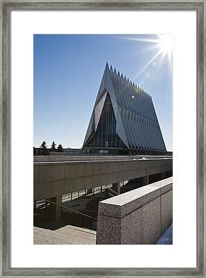 Air Force Academy Chapel Framed Print by Dennis Hofelich