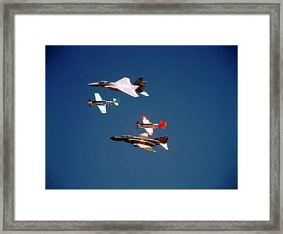 Air Force Heritage Flight Framed Print by Michael Courtney