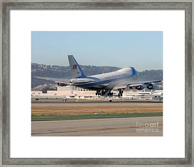 Framed Print featuring the photograph Air Force One by Alex Esguerra
