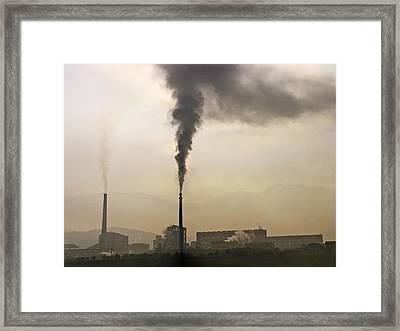 Air Pollution Framed Print by Bjorn Svensson
