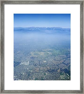 Air Pollution Over Los Angeles Framed Print by Detlev Van Ravenswaay