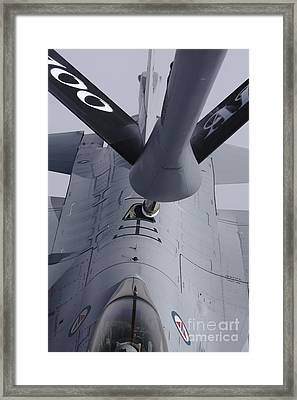 Air Refueling A Norwegian Air Force Framed Print by Daniel Karlsson