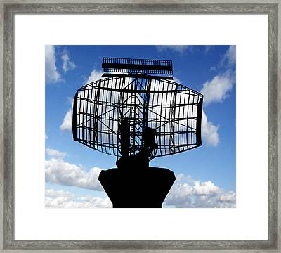 Air Traffic Control Radar Framed Print by Victor De Schwanberg
